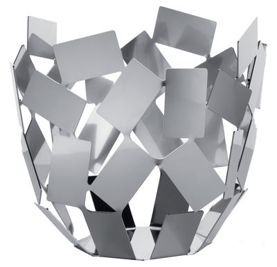 Corbeille La Stanza dello Scirocco / Ø 22 x H 20 cm - Alessi acier poli en métal