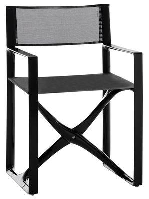 Furniture - Chairs - La Regista Armchair - Fabric & polyamide structure by Serralunga - Black frame / black fabric - Cloth, Polyamide