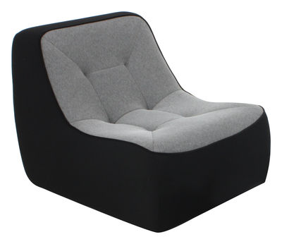 chauffeuse tchubby by ora ito noir gris chin passepoil noir dunlopillo made in design. Black Bedroom Furniture Sets. Home Design Ideas