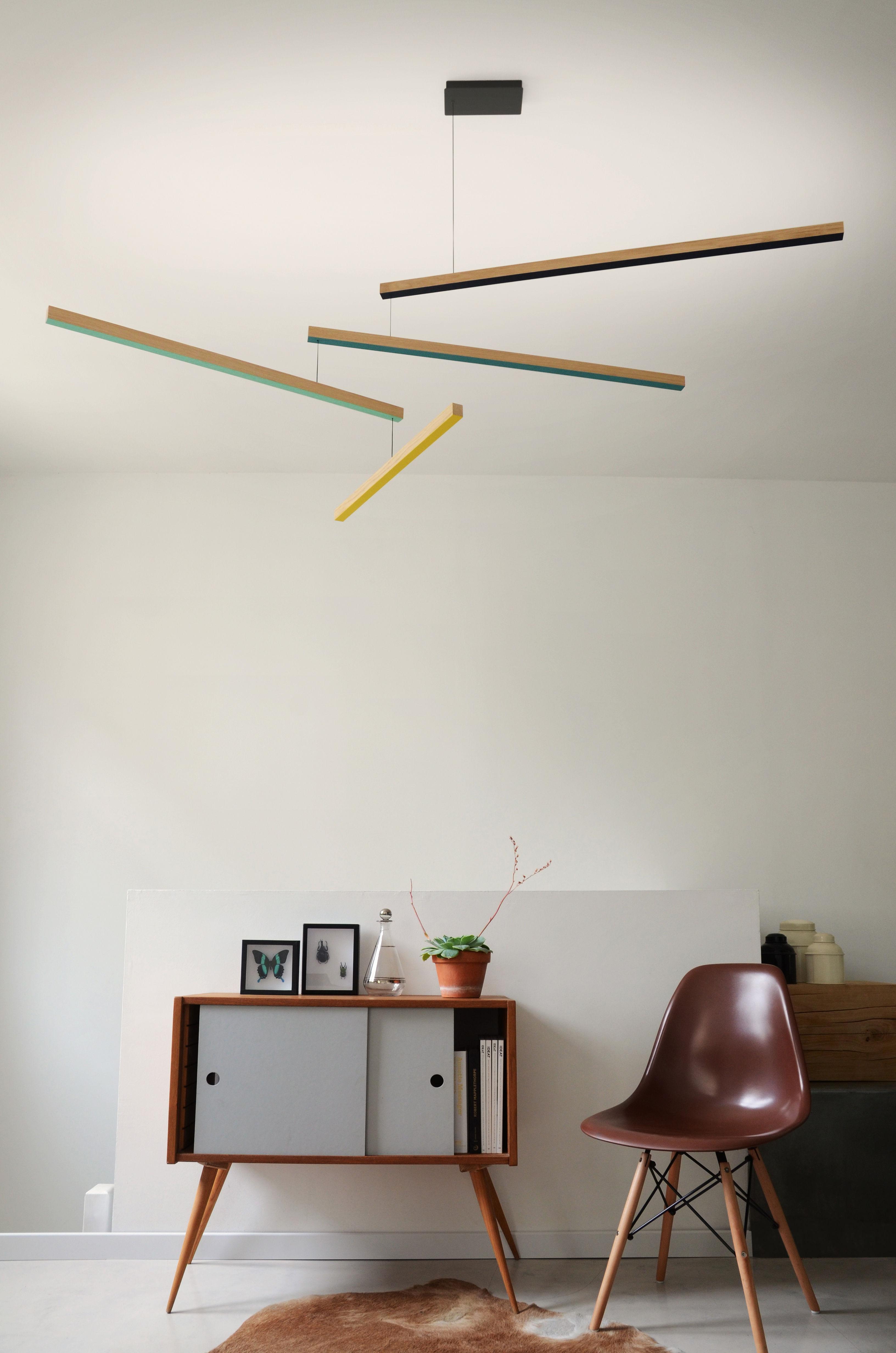 suspension tasso th led ch ne l 155 cm jaune vert turquoise marine bois presse citron. Black Bedroom Furniture Sets. Home Design Ideas