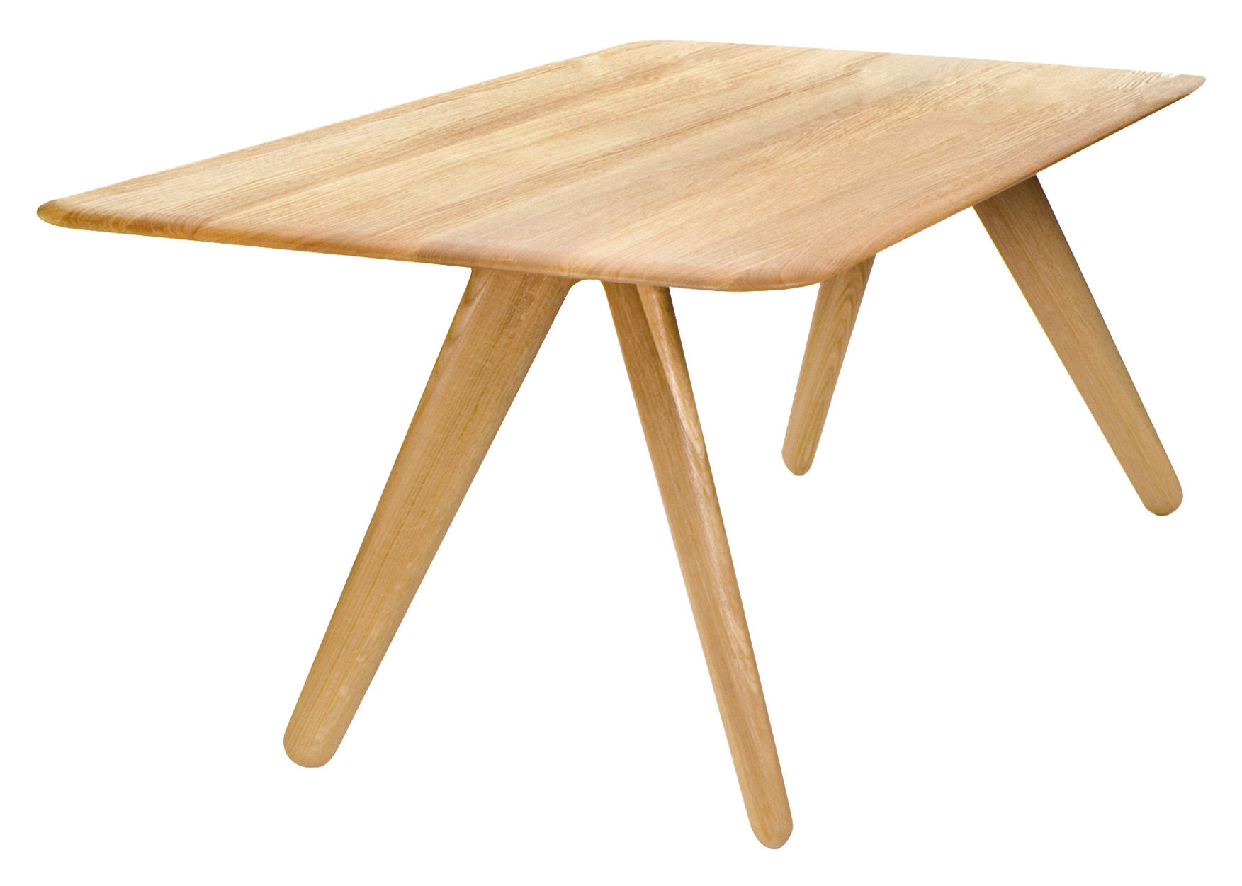 Table slab 100 x 100 cm bouleau naturel tom dixon for Table 85 cm de large