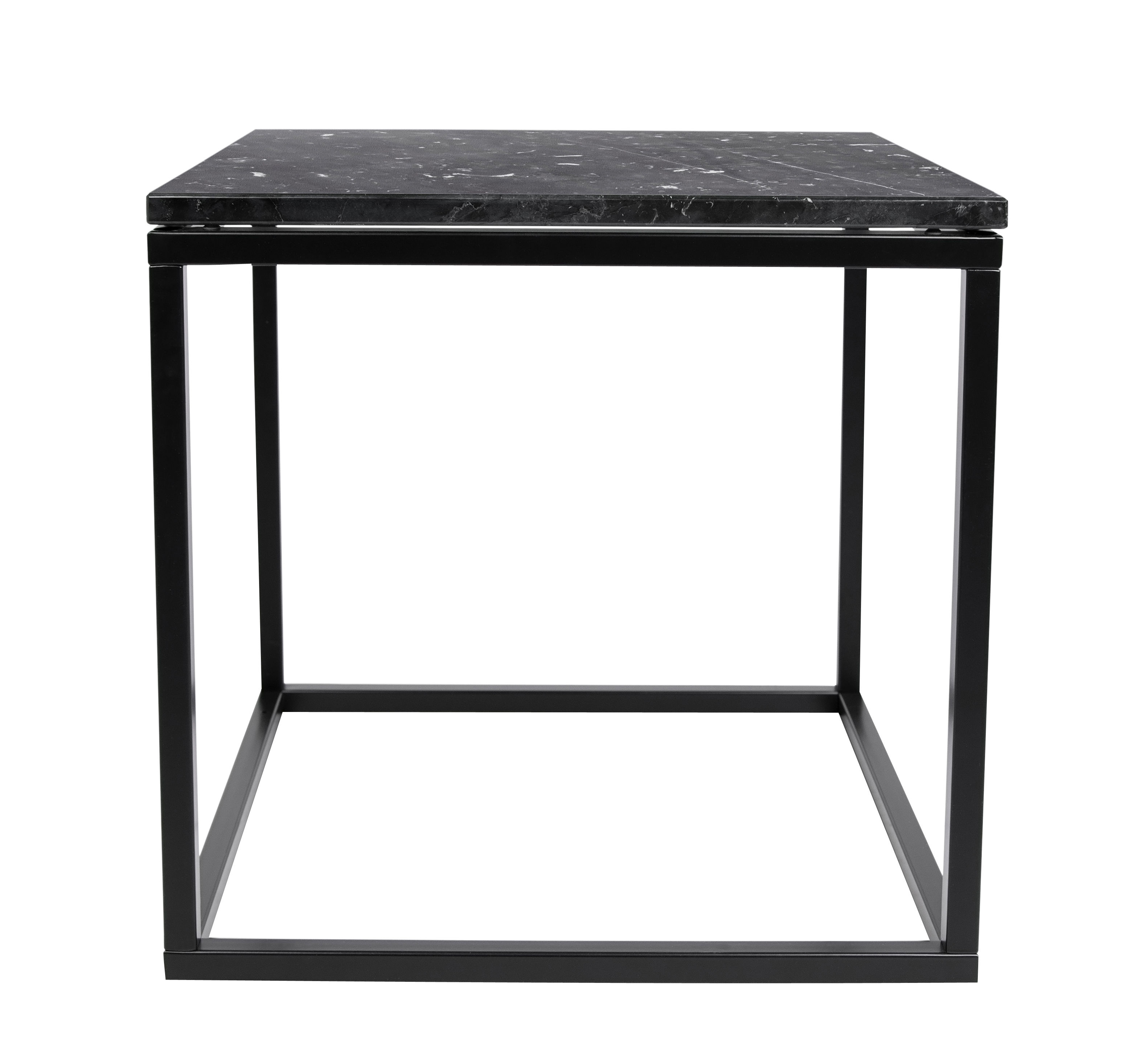 Marble Coffee Table Marble 50 X 50cm Black Marble Black Leg