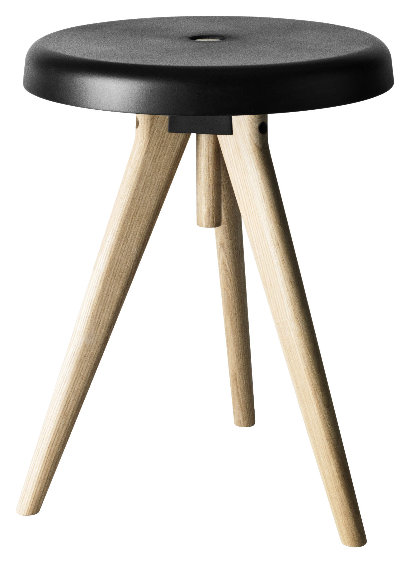 tabouret flip around table d 39 appoint h 46 cm noir bois clair menu. Black Bedroom Furniture Sets. Home Design Ideas