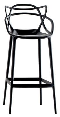 Chaise de bar Masters H 75 cm Polypropylène Kartell noir en matière plastique