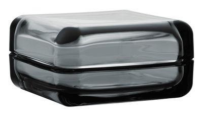 Boîte Vitriini / 11 x 11 cm - Iittala gris en verre