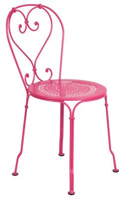 Chaise empilable 1900 / Métal - Fermob fuchsia en métal