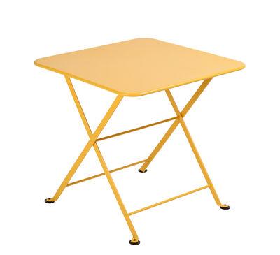 Tavolino Tom Pouce - / 50 x 50 cm di Fermob - Miele - Metallo