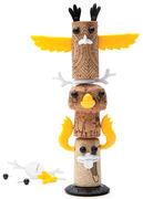Decorazione Corkers Totem - / Per tappo di sughero di Pa Design - Multicolore - Materiale plastico