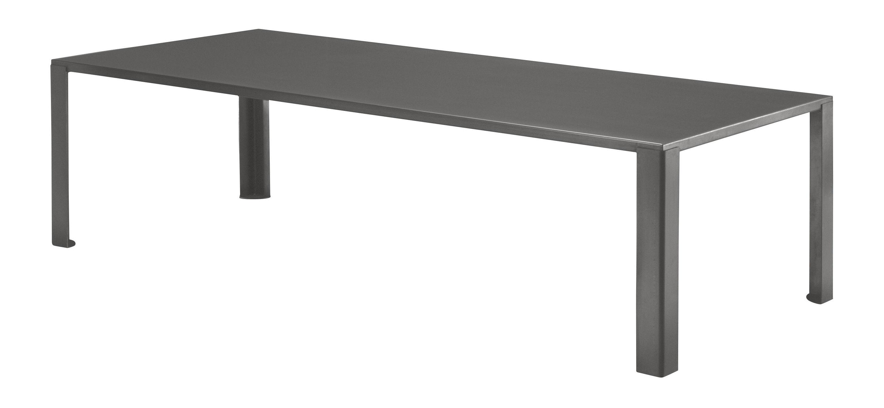 Table de jardin big irony outdoor l 160 cm gris chaud zeus for Table 85 cm de large