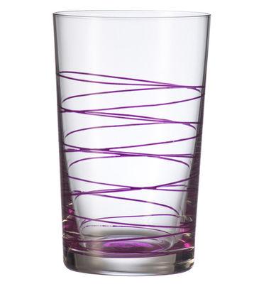 verre long drink spirale violet leonardo. Black Bedroom Furniture Sets. Home Design Ideas
