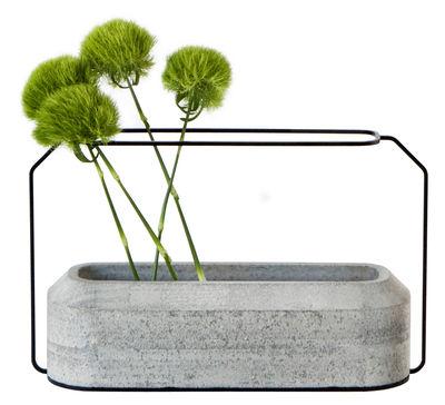 Foto Vaso Weight A - / L 37 x H 22 cm di Spécimen Editions - Grigio cemento - Metallo