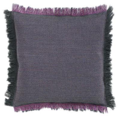 Coussin Fray / 50 x 50 cm - Hay taupe,aubergine en tissu