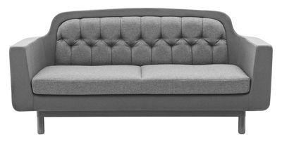 Mobilier - Canapés - Canapé droit Onkel Tissu / 2 places - L 185 cm - Normann Copenhagen - Gris clair - Frêne, Tissu
