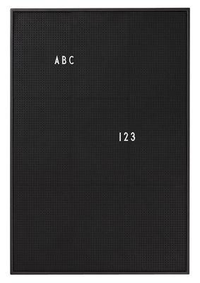 Tableau memo A2 L 42 x H 59 cm Design Letters noir en matière plastique