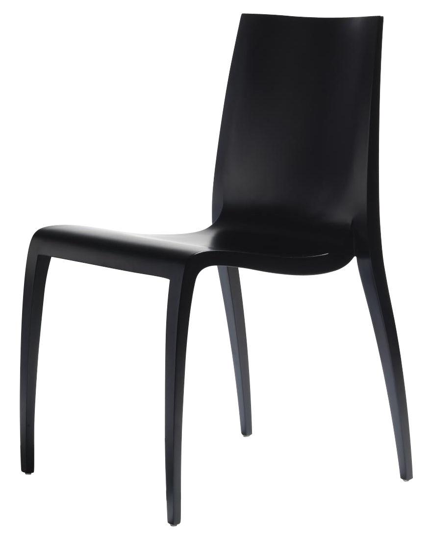 Chaise empilable ki bois noir horm for Chaise bois noir