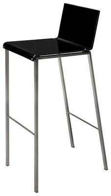 Chaise de bar Bianco Mat H 80 cm Zeus acier,noir mat en métal