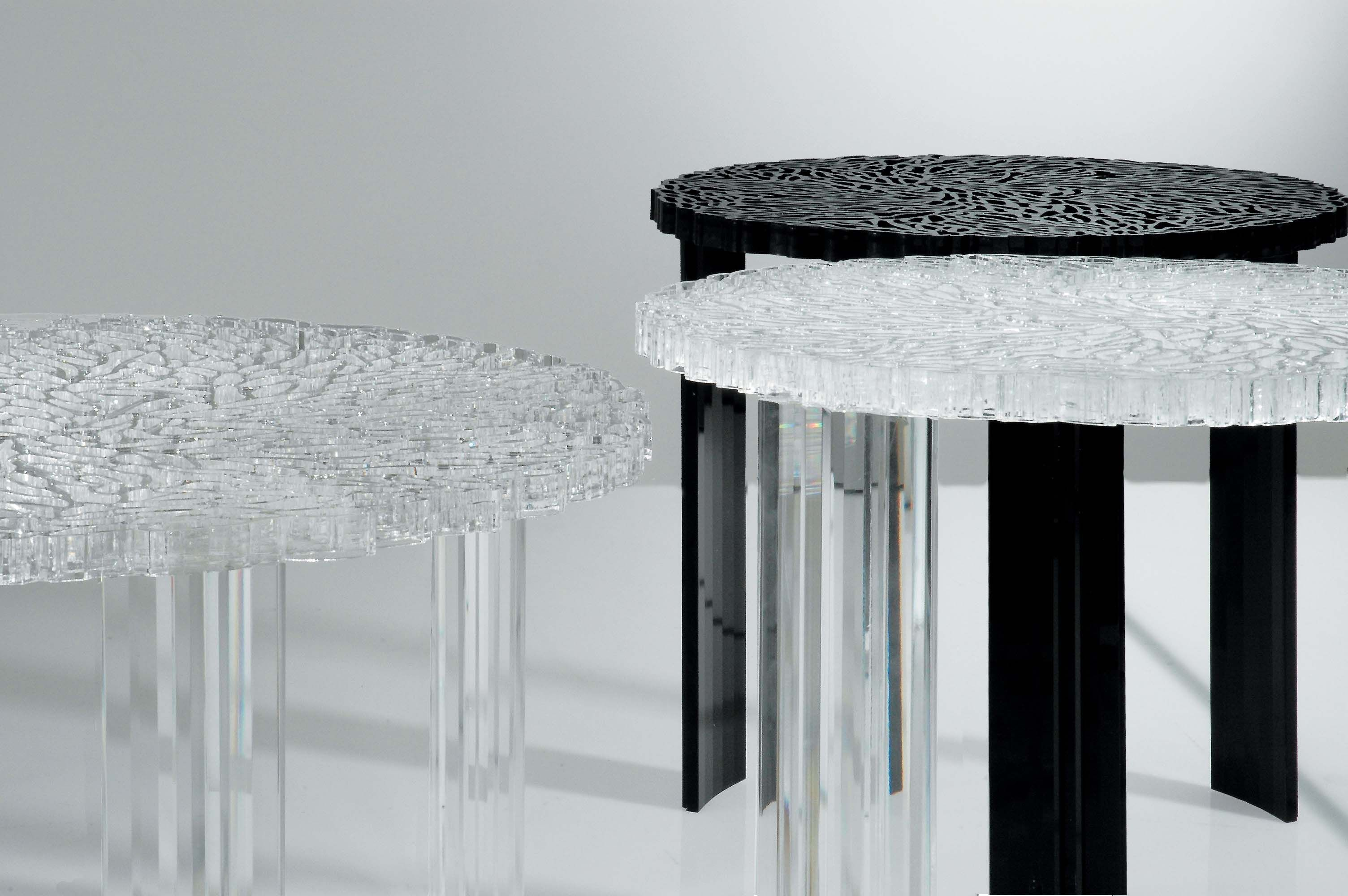 t table medio coffee table h 36 cm cristal by kartell. Black Bedroom Furniture Sets. Home Design Ideas
