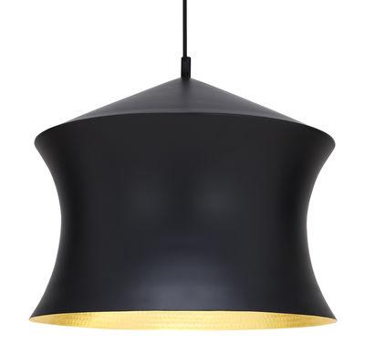 Luminaire - Suspensions - Suspension Beat Waist / Ø 33 x H 41 cm - Tom Dixon - Noir / intérieur doré - Laiton