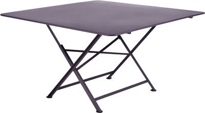 Table pliante Cargo 128 x 128 cm Fermob prune en métal