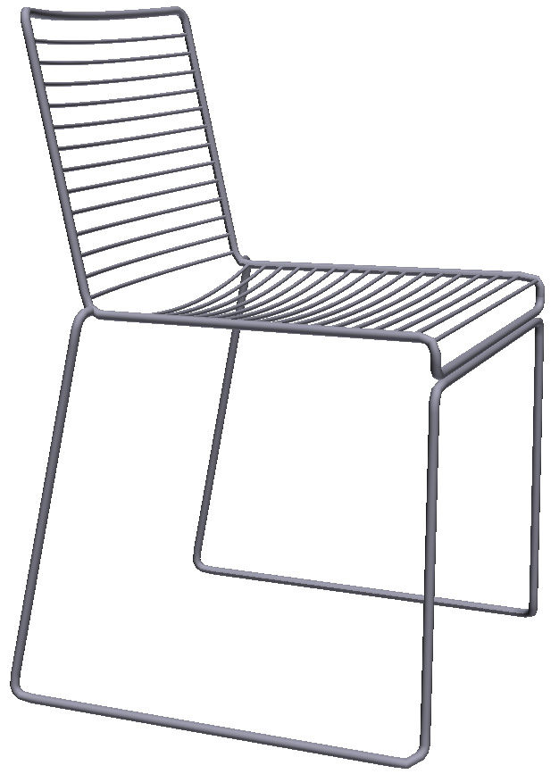 hee stacking chair metal black by hay. Black Bedroom Furniture Sets. Home Design Ideas