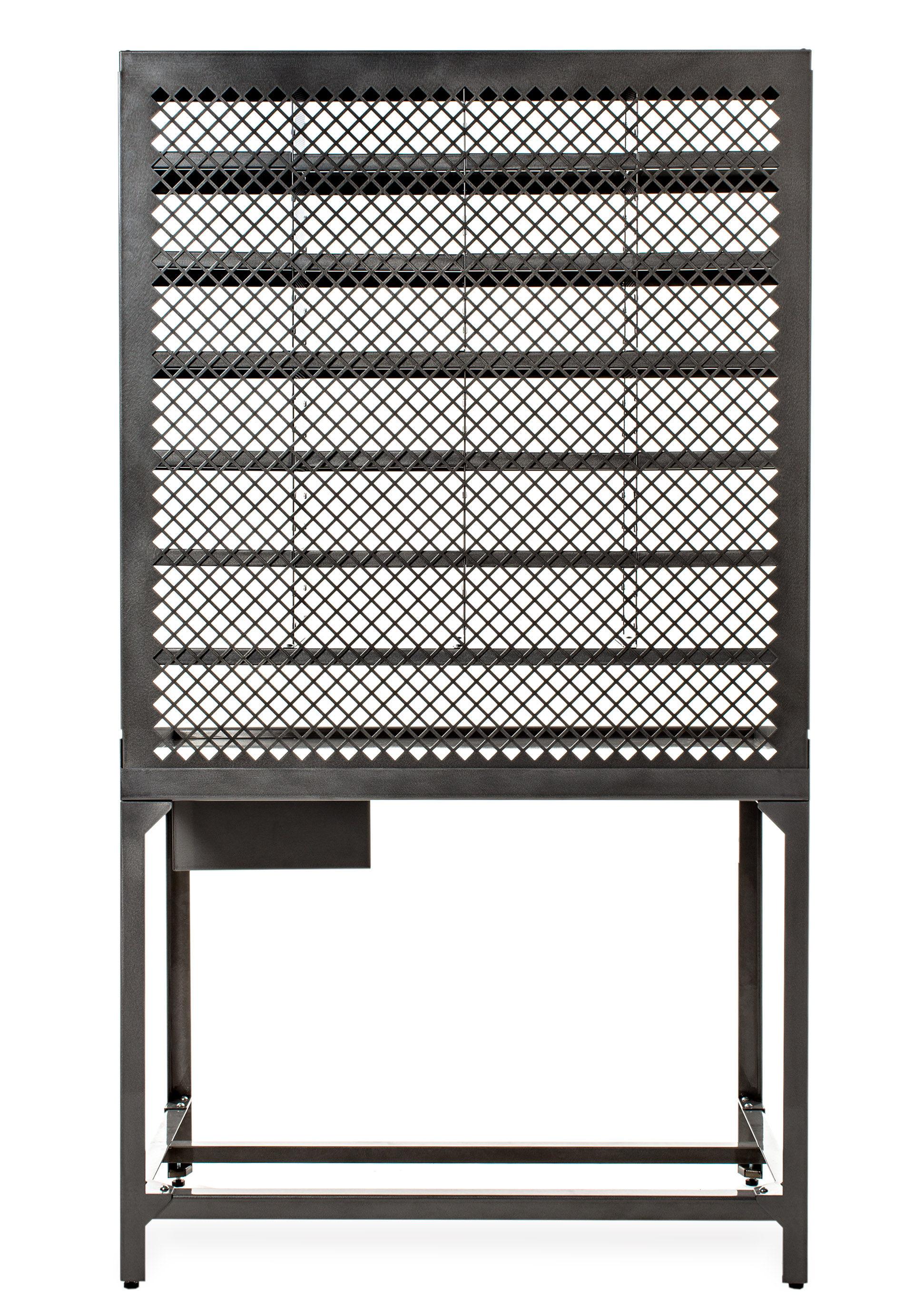 Desk Varnished Raw Steel By Tolix # Casier Metal Bas