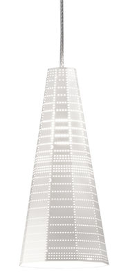 Luminaire - Suspensions - Suspension Null Vector Alfa LED / Ø 13 x H 30 cm - Artemide - Blanc - Aluminium