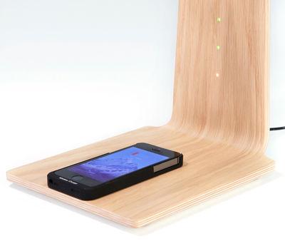 led8 lampe ohne kabel kabellose smartphone ladestation eiche by tunto made in design. Black Bedroom Furniture Sets. Home Design Ideas
