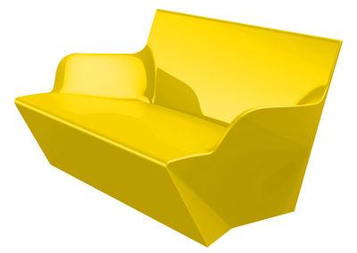 Image of Sofà Kami Yon - versione laccata di Slide - Laccato giallo - Materiale plastico