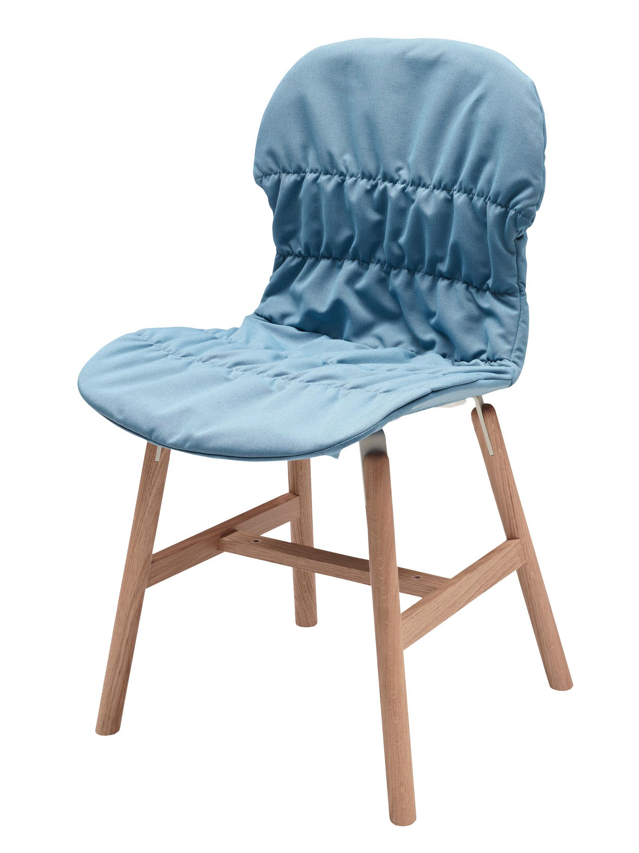 housse de chaise pour chaises stereo wood et stereo 4 pieds bleu clair casamania. Black Bedroom Furniture Sets. Home Design Ideas