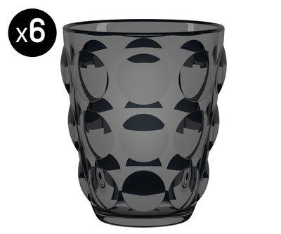 Foto Bicchiere Bolle - / Lotto di 6 di Italesse - Nero - Vetro