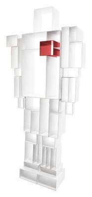 Libreria Robox - L 78 cm x H 184 cm di Casamania - Bianco,Rosso - Metallo