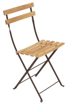 Chaise pliante Bistro / Métal & bois - Fermob bois,rouille en bois