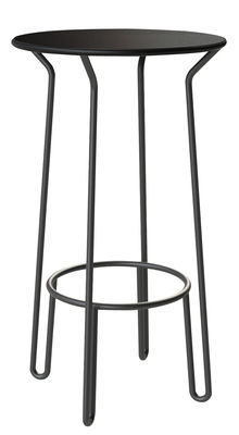 Mange debout Huggy Ø 60 x H 105 cm Aluminium Maiori carbone en métal