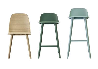 Scopri sedia da bar nerd h 75 cm legno bianco di muuto made