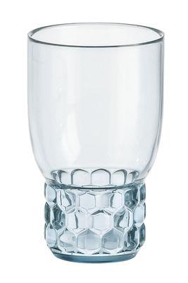 Verre Jellies Family / Medium - H 13 cm - Kartell bleu ciel en matière plastique