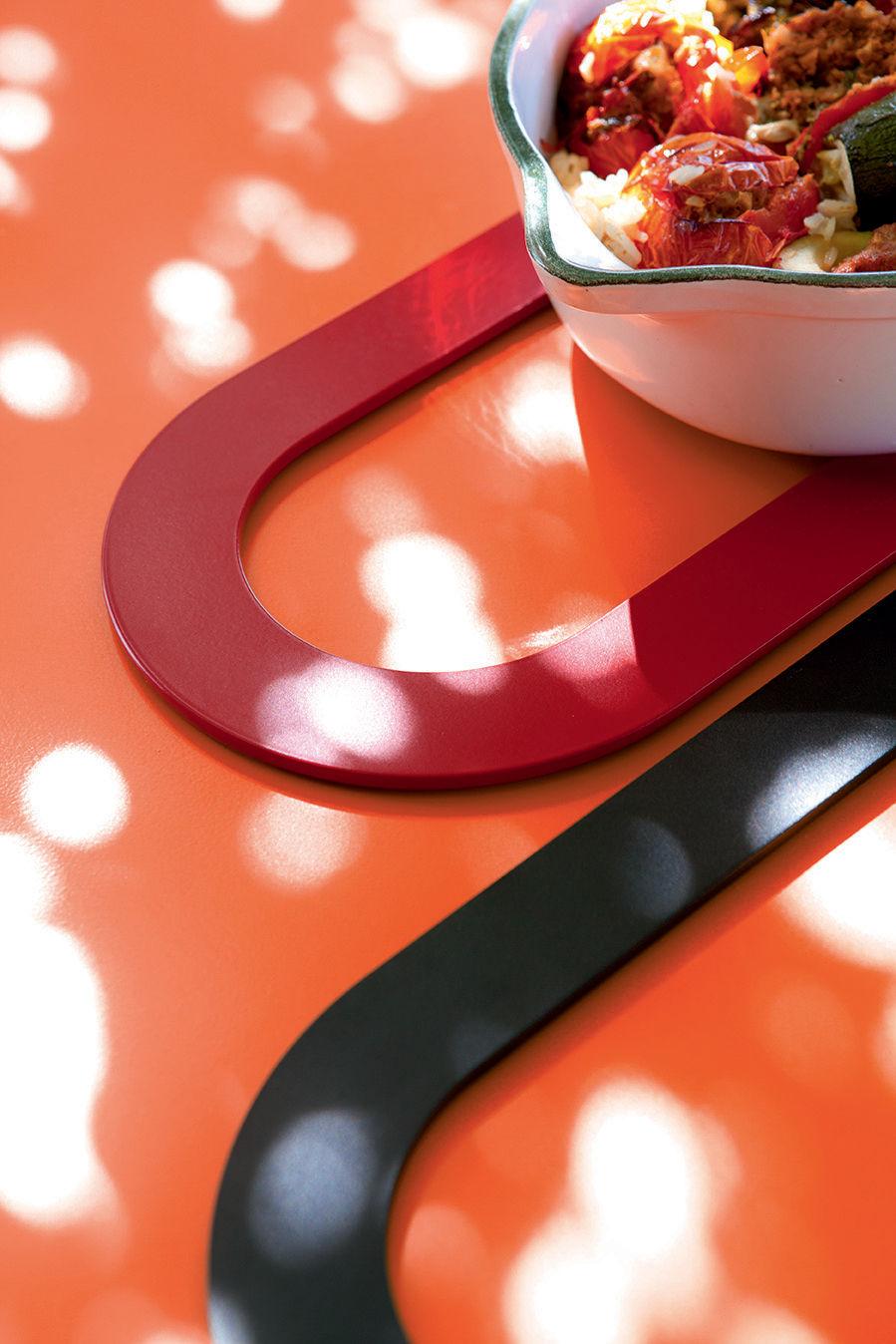 Dessous de plat ring m tal coquelicot fermob - Dessous de plat en metal ...