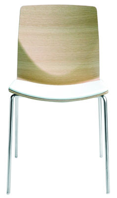 Furniture - Chairs - Kai Stacking chair - Wood by Lapalma - Blanched oak - Bleached oak plywood, Sandy steel