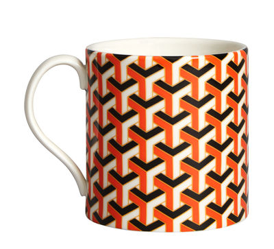 Mug Versailles Carnaby - Jonathan Adler orange en céramique