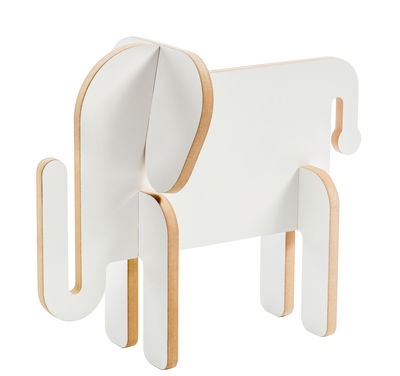 Déco - Pour les enfants - Figurine à construire Otto / Eléphant en bois à colorier - Donkey - Eléphant / Blanc - MDF
