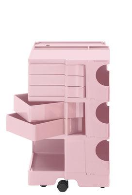 Desserte Boby / H 73 cm - 5 tiroirs - B-LINE rose pâle en matière plastique