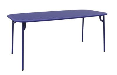 Table rectangulaire Week-end / 180 x 85 cm - Aluminium - Petite Friture bleu en métal