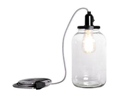 Pickle Light Lampe / groß - H 30 cm - Pop Corn - Schwarz,Transparent