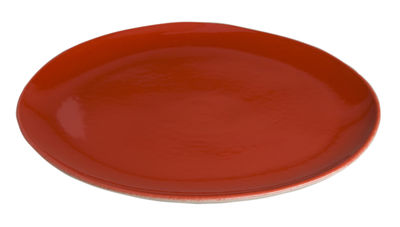 Assiette Bazelaire Ø 26cm - Faïence émaillée - Sentou Edition rouge en céramique