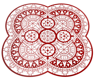 Dessous de plat Petal Italic Lace / 33 x 33 cm - Dessous de plat - Driade Kosmo rouge en métal