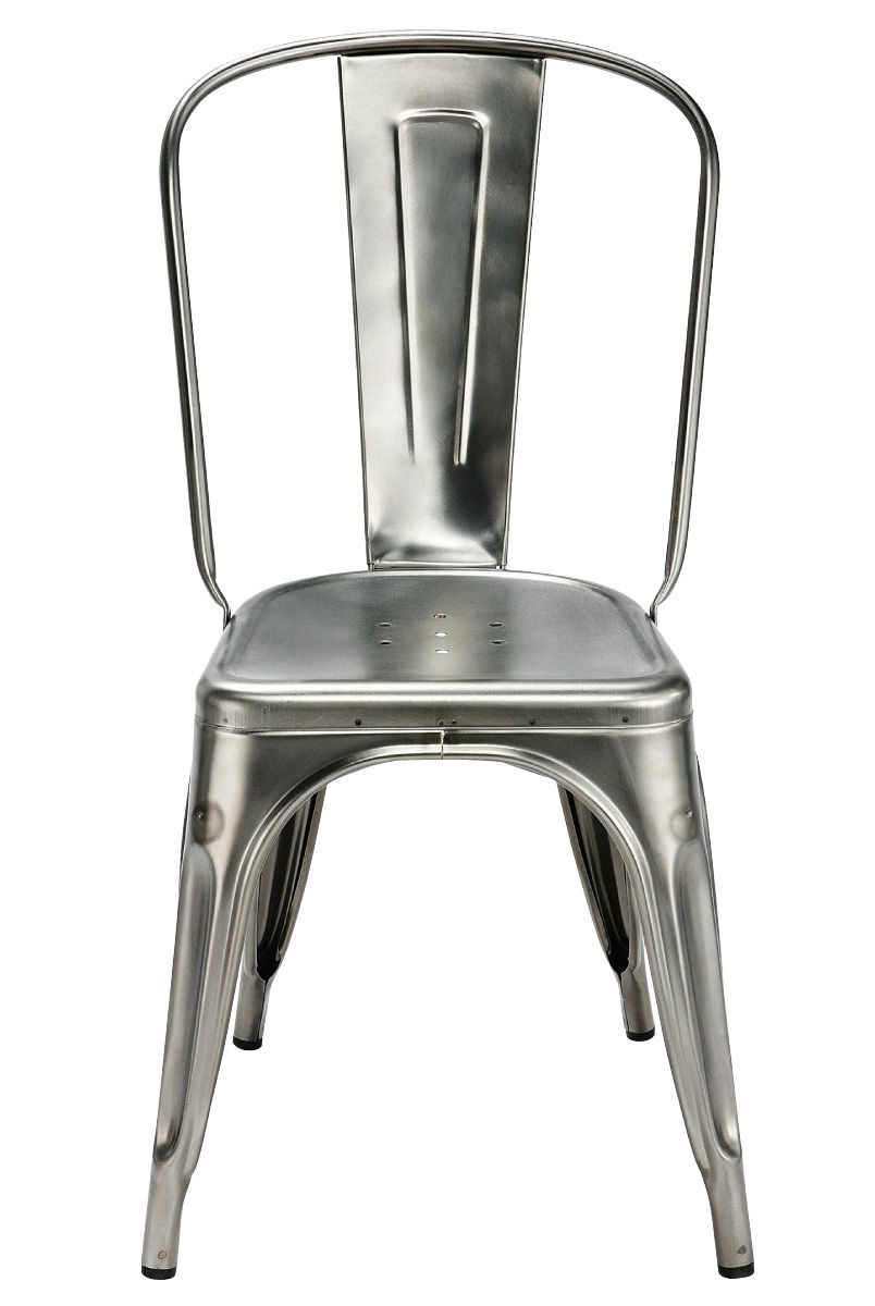 A Stacking Chair   Steel / Indoor Raw Glossy Varnished By Tolix | Made In  Design UK