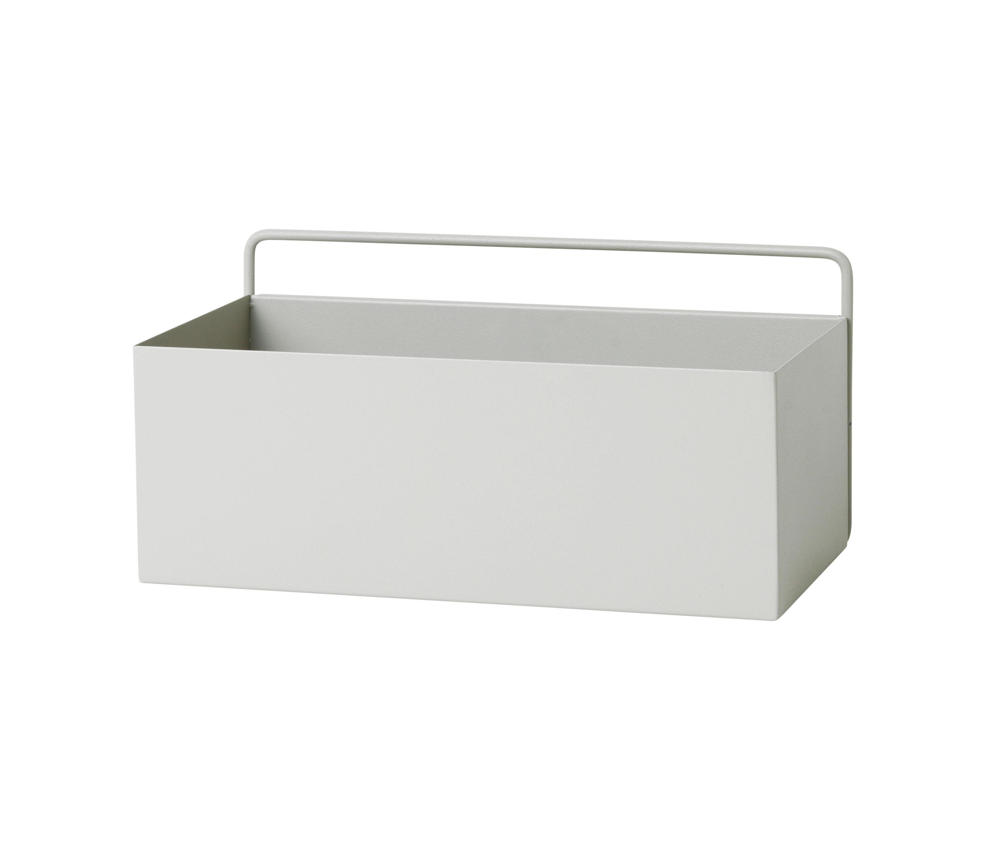rectangle blumentopf l 30 6 cm x h 15 6 cm hellgrau by ferm living made in design. Black Bedroom Furniture Sets. Home Design Ideas