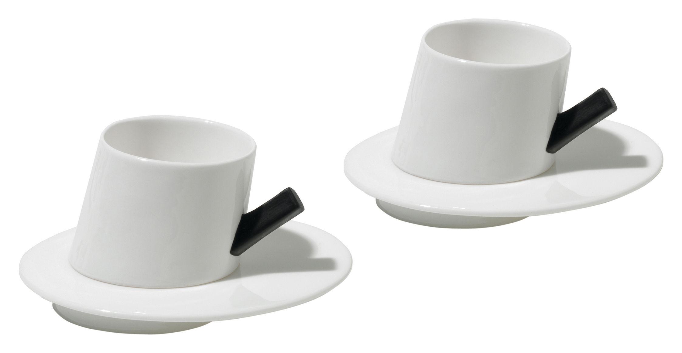 Scopri tazzina da caff presto set 2 tazze 2 piattini for Tazzine caffe moderne