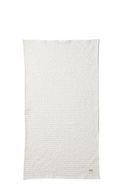 Accessoires - Accessoires salle de bains - Serviette Organic / 100 x 50 cm - Ferm Living - Blanc - Coton