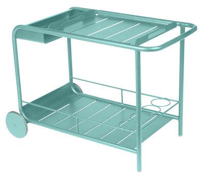 Carrello - tavolo d'appoggio Luxembourg - Fermob - Blu laguna - Metallo