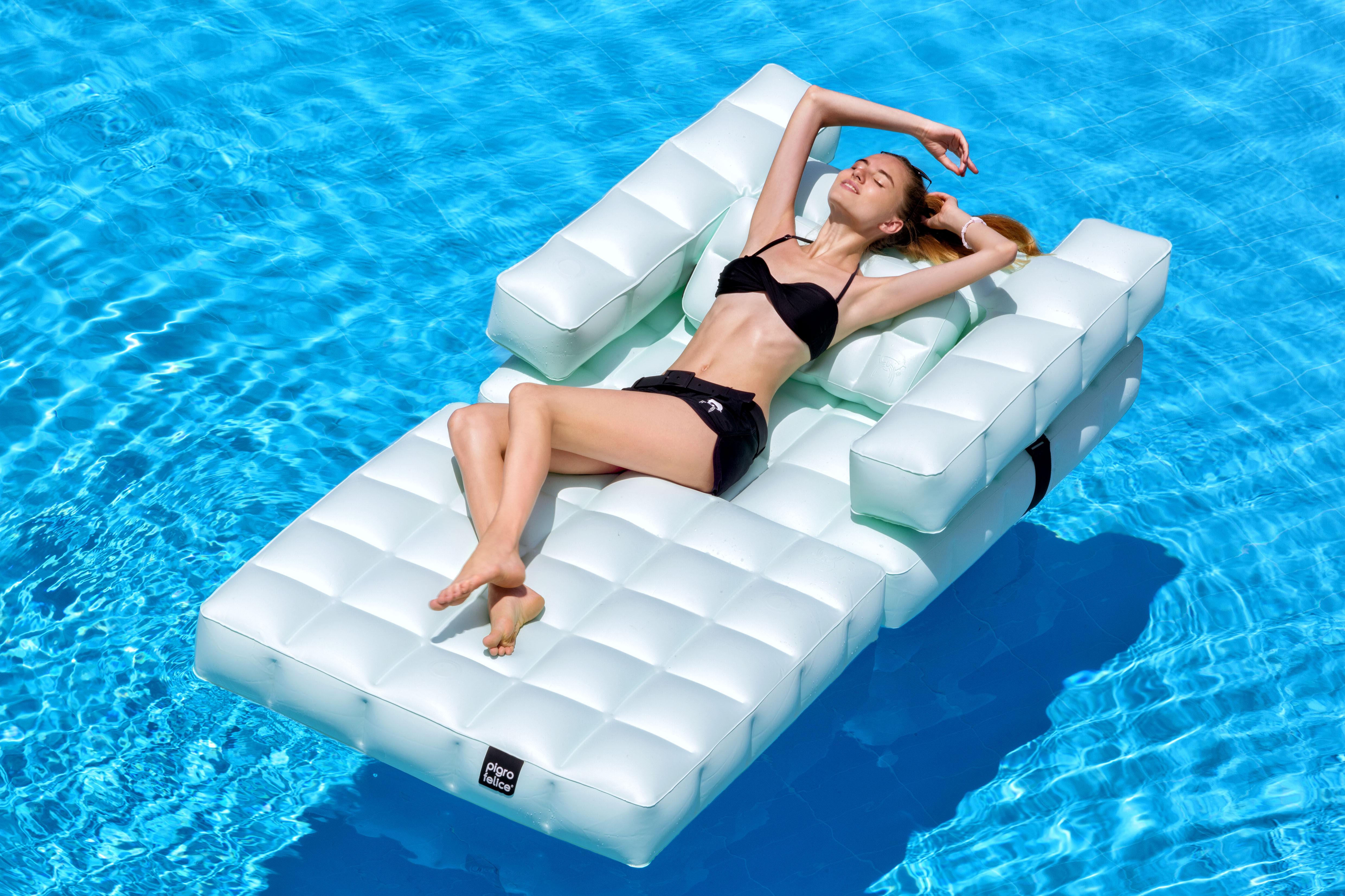 fauteuil gonflable modul 39 air bain de soleil flottant. Black Bedroom Furniture Sets. Home Design Ideas